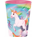 Unicorn, Unikornis glass, plastic 260 ml