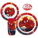 Vaisselle, micro plastique Set Spiderman, Spiderma