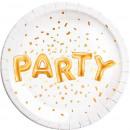 Party Paper Plate 8-delig 23 cm Metallic
