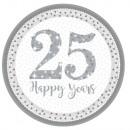 25th Anniversary, Wedding Anniversary Paper Plate