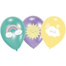grossiste Cadeaux et papeterie: Ballon arc en ciel et nuage avec 6 ballons