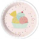 Happy Ice cream Paper tray 8 pcs 23 cm