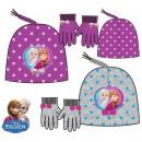 Kids cap + glove set Disney frozen