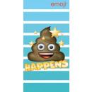 nagyker Egyéb: Emoji fürdőlepedő strand törölköző 70*140cm
