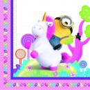 Minions , Agnes & Fluffy Unicorn servetten in