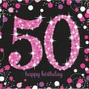 wholesale Gifts & Stationery: Happy Birthday 50  napkins 16 pcs 33 * 33 cm