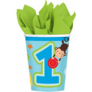 First birthday Paper cup 8 pcs 266 ml