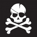 Pirates Black Skull, 20 pieces of pirate napkin