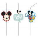 Disney Mickey Awesome drinking straw set with 6 pi