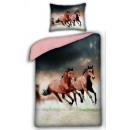 Großhandel Bettwäsche & Matratzen: Reiter, die Pferde  Leinen 140 x 200 cm, 70 x 90 cm
