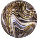 Palloncini foil colorati, sfera nera 40 cm