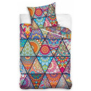 Colored Mandala bed linen cover 160 × 200 cm, 70 ×