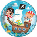 Pirate, Pirate Paper plate 8 pieces 23 cm