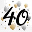 Happy Birthday 40 napkins with 20 pieces