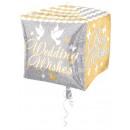 Wedding, Wedding Foil Balloons Cube 38 cm