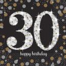 wholesale Gifts & Stationery: Happy Birthday 30  napkins 16 pcs 33 * 33 cm
