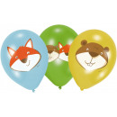 Fox, Balloon balloon, balloons 6 pcs