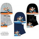 Children cap + scarf + glove kit Star Wars