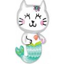 Mermaid Cat, Sellő kicsi Foil balloons 78 cm