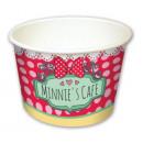 Disney Minnie Café paper ice cream cup with 8 piec