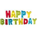 Happy Birthday Multicolour Foil Balloons