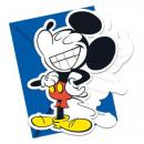 Disney Mickey Party Invitation 6 pcs