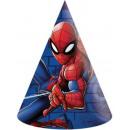 Spiderman , Czapka Spiderman Party, kilof 6 szt