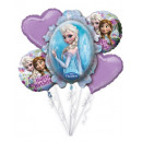 nagyker Licenc termékek: Disney Frozen, Jégvarázs Fólia lufi 5 db-os szett