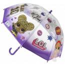 grossiste Bagages et articles de voyage: Parapluie enfant transparent LOL Surprise Ø66 cm