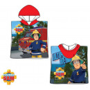 Sam the firefighter beach towel poncho 50 * 100 cm