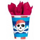 Pirate, Pirate Paper Cup 8 pieces 266 ml
