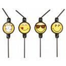 Emoji suction strainer, 8 pcs set