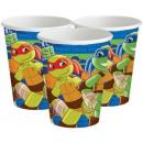 Ninja Turtles Paper Cup 8 pieces 266 ml