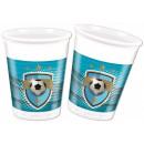 grossiste Cadeaux et papeterie: Football gobelets  en plastique 8 pièces 200 mL