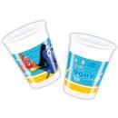 groothandel Glazen: Disney Nemo en  Dory 8-piece plastic beker 200 ml