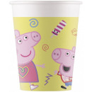 Peppa Pig , Peppa pig Paper cup of 8 pieces 200 ml
