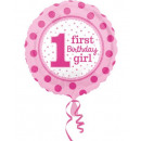First Birthday Foil Balloons 43 cm