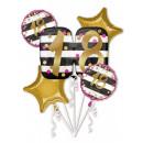 Großhandel Geschenkartikel & Papeterie: Happy Birthday 18 Folienballons mit 5 Teilen