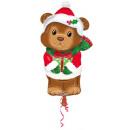 Christmas Bear, Christmas Teddy Bear Foil Balloon