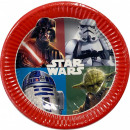 wholesale Party Items: Star Wars Dark Force Paper Plate 8 pcs 19.5 cm