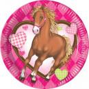 mayorista Regalos y papeleria: Jinete, los  caballos plato de papel 8 piezas de 19
