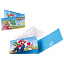 Super Mario Party Invitation Card 8 pcs