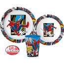 Zastawa stołowa Spiderman, zestaw z mikroplastiku