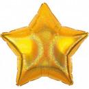 mayorista Regalos y papeleria: Estrella dorada, globos estrella dorada 43 cm.