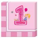 Großhandel Tischwäsche: Erster Geburtstag Servietten 20 Stück