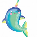 Happy Narwhal Foil balloons 99 cm