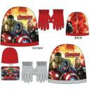 cappelli e guanti per bambini impostati Avengers,