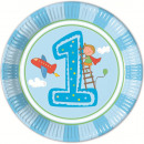 wholesale Gifts & Stationery: First birthday  paper plates 8 pcs 23 cm