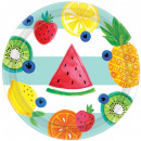 Hello Summer Paper Plate with 8 pcs 18 cm