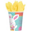 Rabbit, Bunny Paper Cup 8 pcs 266 ml